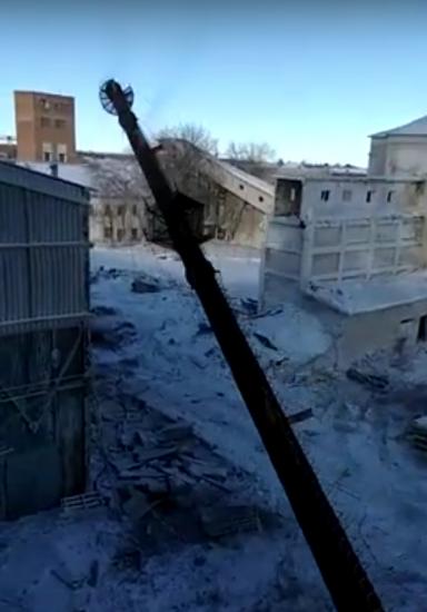 Демонтаж трубы от котельной